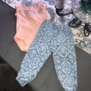 Aztec Print 2 Piece Outfit